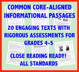 Common Core-Aligned Informational Passages and Assessment Collection: Grade 4-5