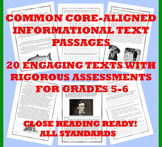 Common Core-Aligned Informational Passages and Assessment Collection: Grade 5-6