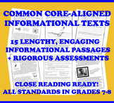 Common Core-Aligned Informational Passages and Assessment Collection: Grade 7-8