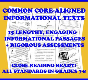 Common Core Worksheets & Activities | CCSS RI 7 9