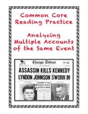 Common Core-Aligned Informational Text Grades 7-9: The JFK Assassination