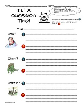 Common Core Informational Text 'W' Questions