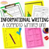Informational Writing Unit   Writing Workshop   Print or D