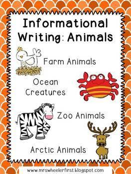 First Grade Informational Writing: Animal Bundle
