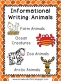 First Grade Informational Writing: Animal Bundle