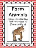 First Grade Informational Writing: Farm Animals