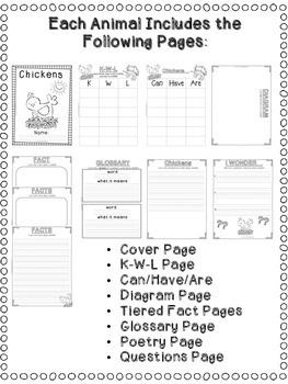 First Grade Informational Writing: Farm Animals