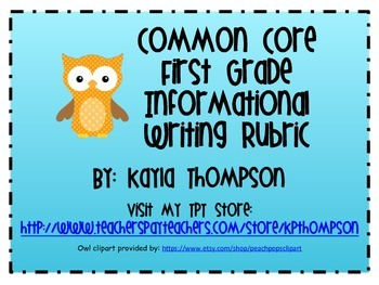 Common Core Informational Writing Rubric