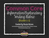 Informative Explanatory Writing Rubric Grades 6-12