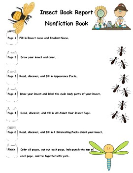 Common Core Insect Book Report