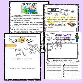 Comprehension Check: Common Core Aligned/Five Stories w/15 Activities