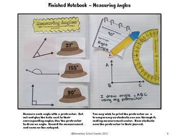 Common Core Interactive Math Notebook - Geometry and Angle Measurement