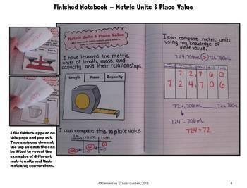 Common Core Interactive Math Notebook - Metric Measurement