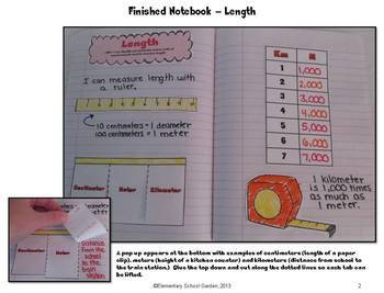 Common Core Interactive Math Notebook - Metric Measurement