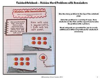 Common Core Interactive Math Notebook - Multiplication and Division