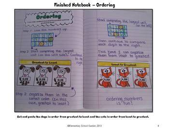 Common Core Interactive Math Notebook - Place Value, Adding, and Subtracting