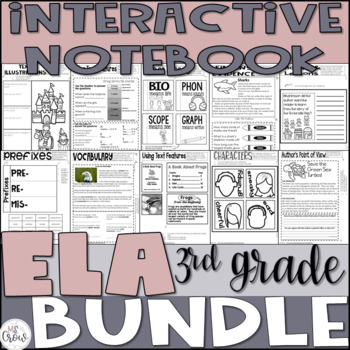 Reading Interactive Notebook Bundle 3rd Grade CCSS