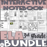 Reading Interactive Notebook Bundle 3rd Grade CCSS