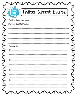 Common Core Interactive Twitter Activity: Current Events