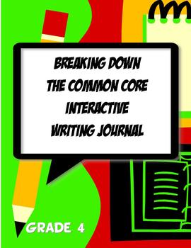 Interactive Writing Notebook Journal Common Core 4th Grade