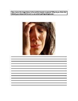 Common Core: Internal vs. External Conflict Learning Tool or Quiz