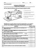 Common Core- Introduction to Sewing Machine Operation & Paper Sewing Reflection