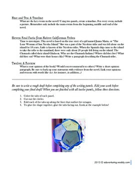 Common Core: Island of the Blue Dolphins - A Final Project - DOK Dodecahedron