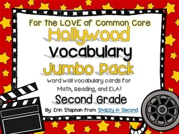 Common Core Jumbo Vocabulary Pack 2nd Grade {Hollywood Stars}