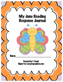 Common Core June Reading Response Journal