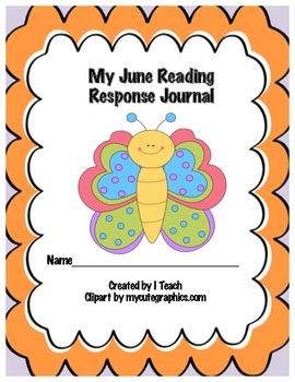 Common Core June Reading Response Journal