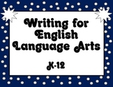 Common Core K-12 English Standards Bundle of blue, red, an