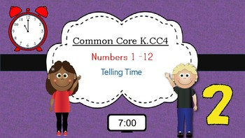 Common Core K.CC.4.  Numbers 1-12