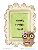 Monthly Portfolio Pages