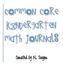 Common Core K Math Journal