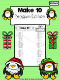 Common Core K.OA.4 Make 10 Penguin Worksheets