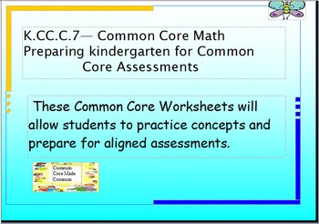 Common Core K.CC.C.7: Comparing Numbers 1-10