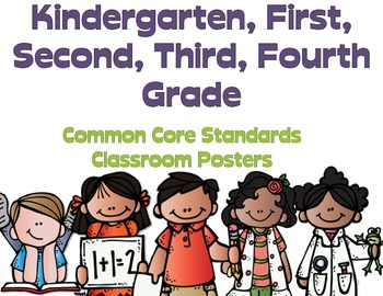 Common Core  Kdg - 4 We Can Posters (Special Request) Melo