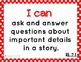 """Common Core ELA Kid Friendly """"I Can"""" Statements for 2nd Grade"""