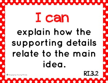 "Common Core ELA Kid Friendly ""I Can"" Statements for 3rd Grade"