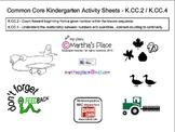 Common Core Kindergarten Activity Sheets K.CC.2 / K.CC.4