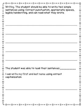 Common Core Kindergarten Assessment (ELA, Math & Writing)