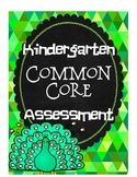 Common Core Kindergarten Assessment ~ Kinder ELA Test