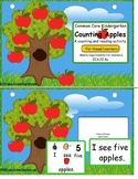Common Core Kindergarten Counting Apples Activity