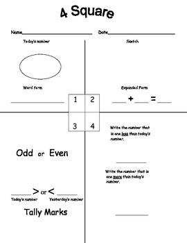 Common Core Kindergarten Daily Math