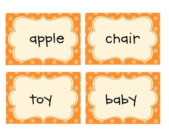 Common Core Kindergarten Dolch Nouns Flashcards
