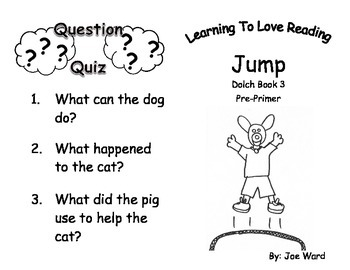 Common Core Kindergarten Dolch Sight Words and Reader - Jump