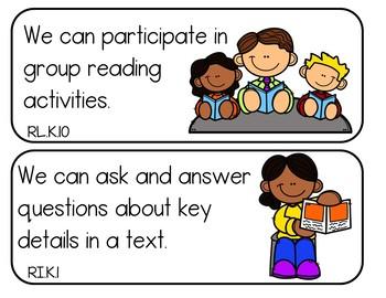 Common Core Kindergarten ELA Standards