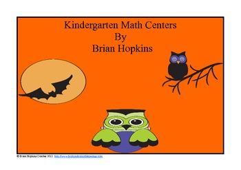 Common Core Kindergarten Halloween Math Centers and Worksheets