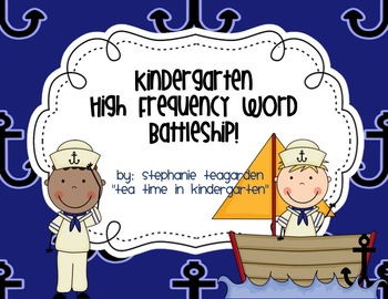 Common Core Kindergarten High Frequency Words Battleship (RF.K.3c)