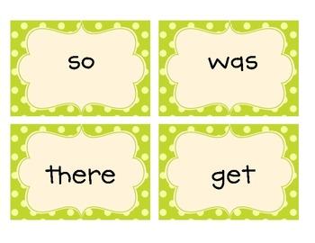 Common Core Kindergarten High Frequency Words Flashcards